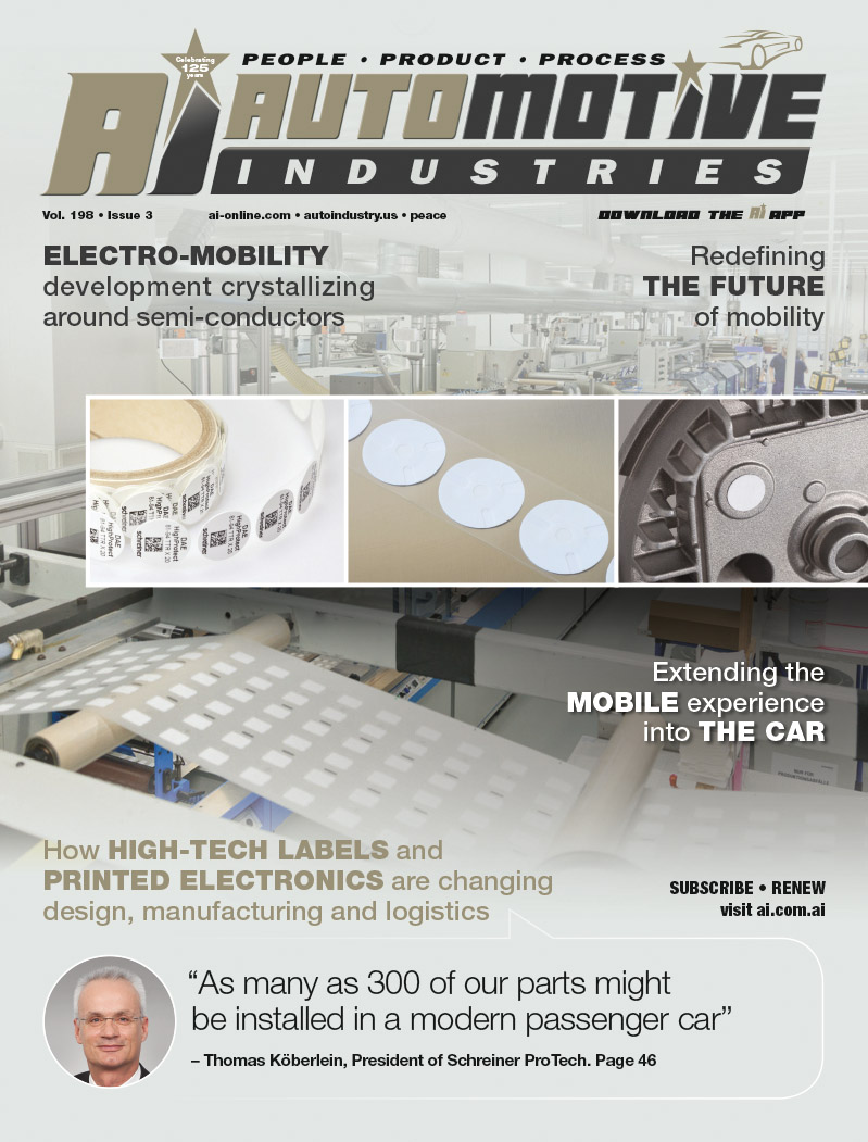 High-tech labels and printed electronics optimize processes